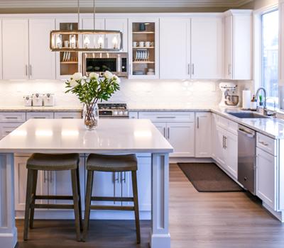 quartz and ceramic kitchen worktops